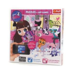 Puzzle interaktywne 80 el. Littlest Pet Shop