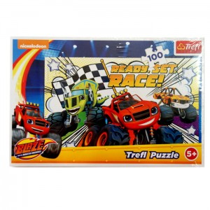 Puzzle 100 el. Gotowi na wyścig/ Monster Machines TREFL