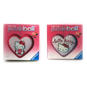 Puzzle kuliste serce 60el. RAVENSBURGER Hello Kitty