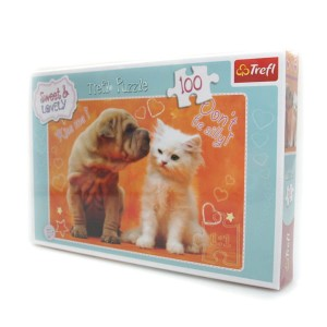 Puzzle 100 el. Sweet and Lovely Całusy